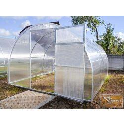 3x4 méteres szimpla profi üvegház kiegészítőkkel