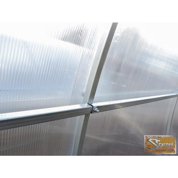 3x8 méteres szimpla profi üvegház kiegészítőkkel