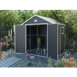 Epen 4,58 m2 műanyag kerti tároló, szürke színben