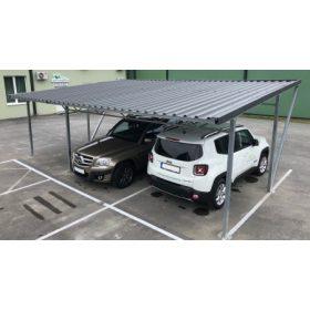 Kocsibeállók 2-10 parkolóhellyel lemezből, vagy polikarbonátból