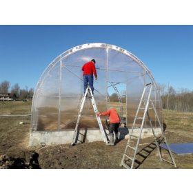 Agronom üvegházak 4 méter szélességgel, választható polikarbonát vastagsággal