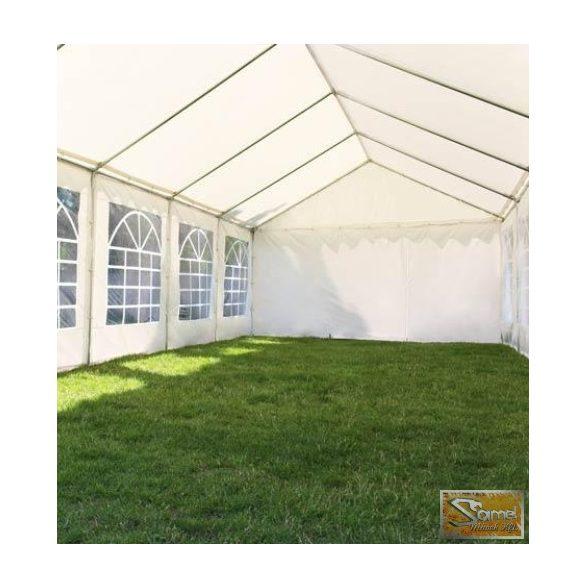 Profi prémium 8x10 m rendezvénysátor PVC 500g/m2, fehér színben
