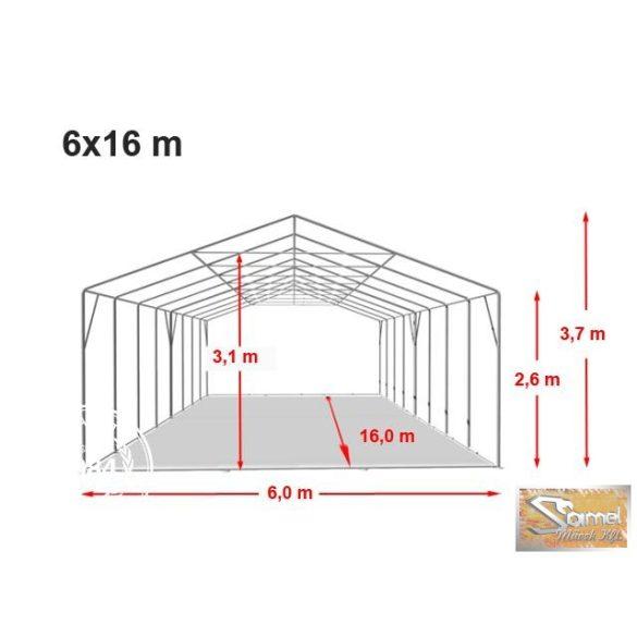 Profi professional rendezvénysátor 6x16 m +2,6m