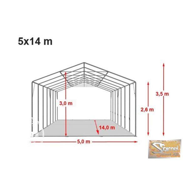 Profi professzionális raktársátor 5x14 m, fehér 2,6 m A típusú