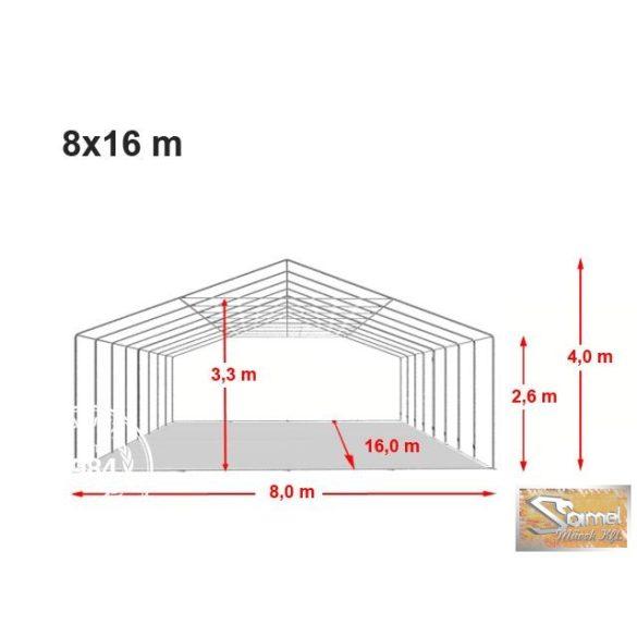 Profi professional rendezvénysátor 8x16 m +2,6 m
