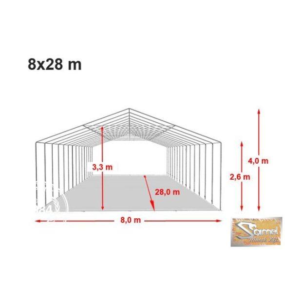 Profi professional rendezvénysátor 8x28 m +2,6 m