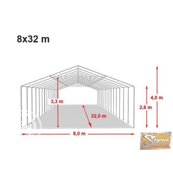 Profi professional rendezvénysátor 8x32 m +2,6 m
