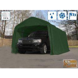 Profi professzionális sátorgarázs 3,3x8,4m zöld
