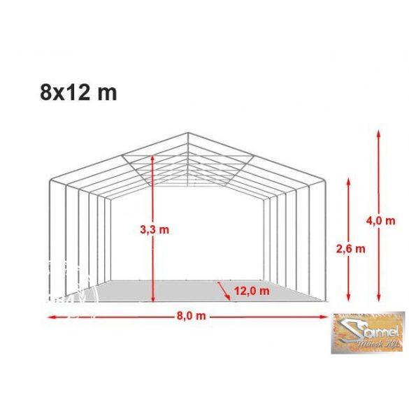 Profi professional rendezvénysátor 8x12 m +2,6 m