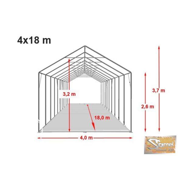 Profi professional 4x18, +2,6 m tűzálló rendezvénysátor 550g/m2, fehér színben