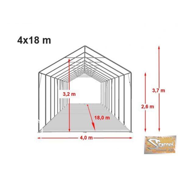 Profi professzionális raktársátor 4x18 m, fehér 2,6 m A típusú