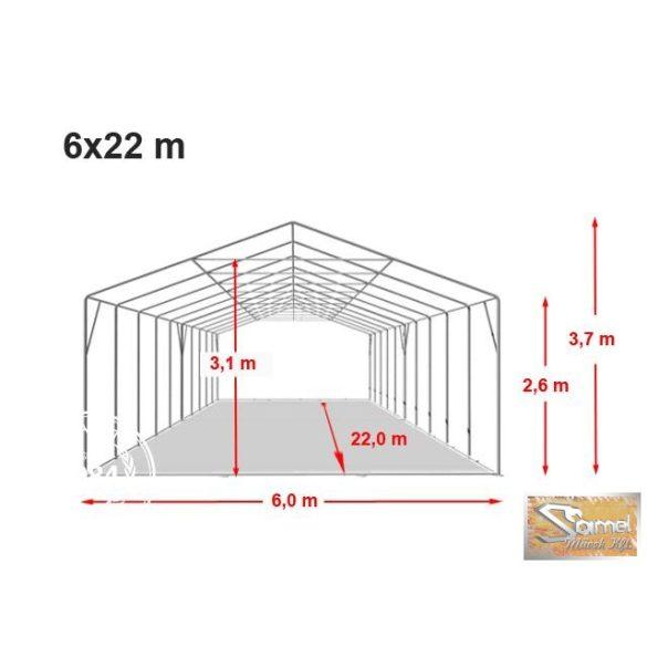 Profi professional rendezvénysátor 6x22 m +2,6m