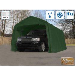 Profi professzionális sátorgarázs 3,3x7,2m zöld