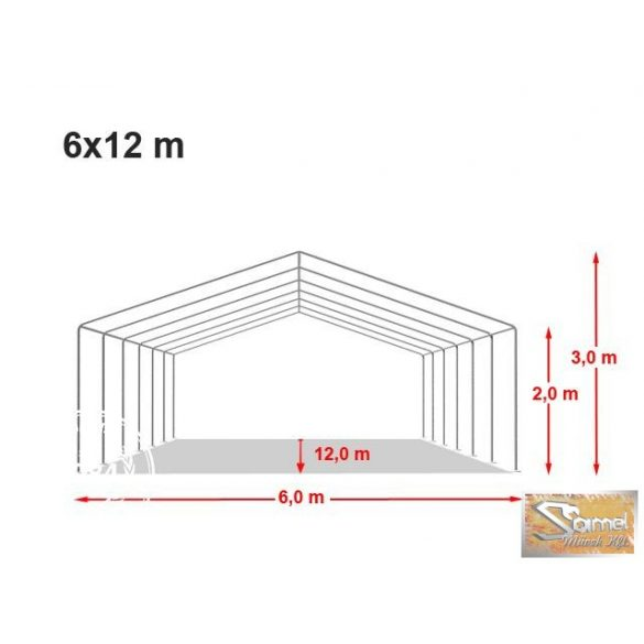 Profi economy rendezvénysátor PVC 500g/m2  6x12m színes
