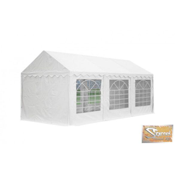 Profi economy rendezvénysátor PVC 500g/m2  5x6m fehér, szürke-fehér