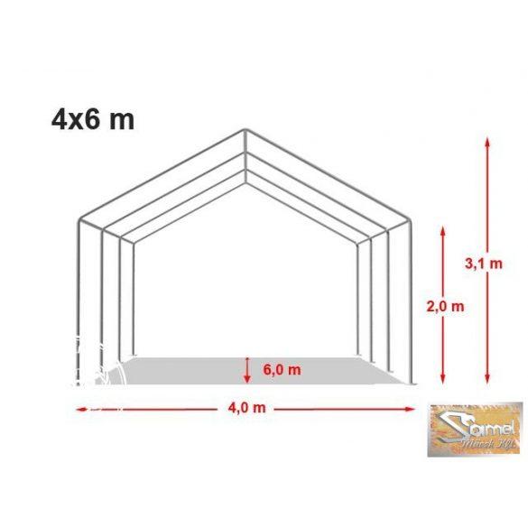 Profi economy rendezvénysátor PVC 500g/m2  4x6m, fehér