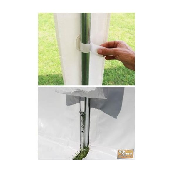 Profi economy rendezvénysátor PVC 500g/m2  4x6m szürke-fehér