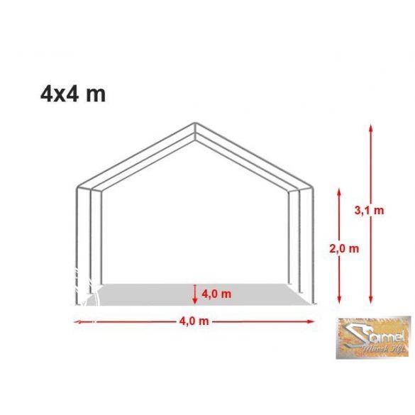 Profi economy rendezvénysátor PVC 500g/m2  4x4 m több színben