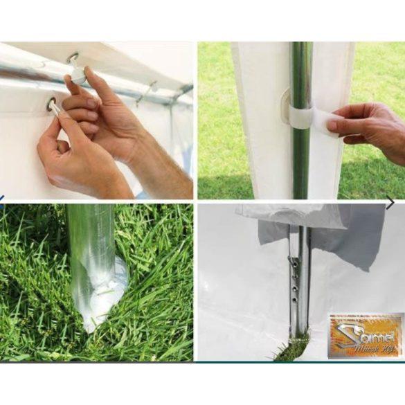 Profi economy rendezvénysátor PVC 500g/m2 3x3 m, fehér