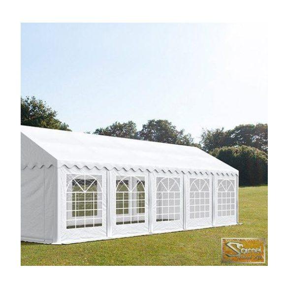 Profi economy rendezvénysátor PVC 500g/m2  5x10m fehér