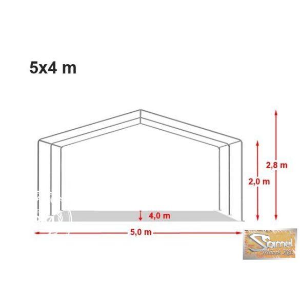 Profi economy rendezvénysátor PVC 500g/m2  5x4m fehér
