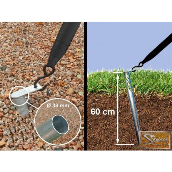 Profi economy rendezvénysátor PVC 500g/m2  5x10m színes