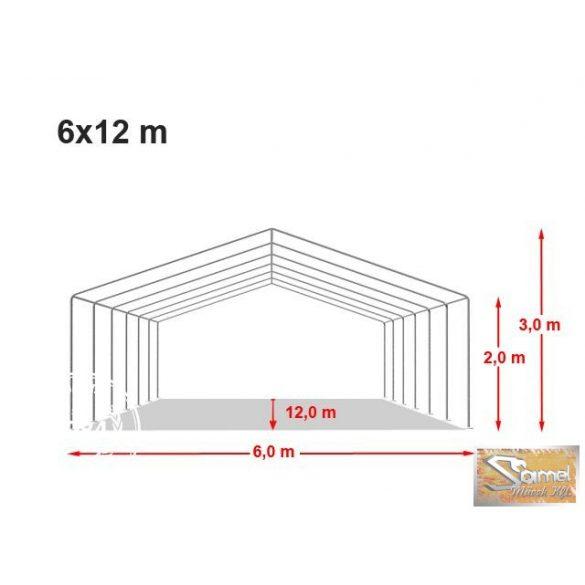 Profi economy raktársátor 6x12 m, fehér A típusú