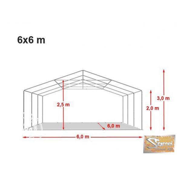 Profi prémium 6x6 m rendezvénysátor PVC 500g/m2, több színben