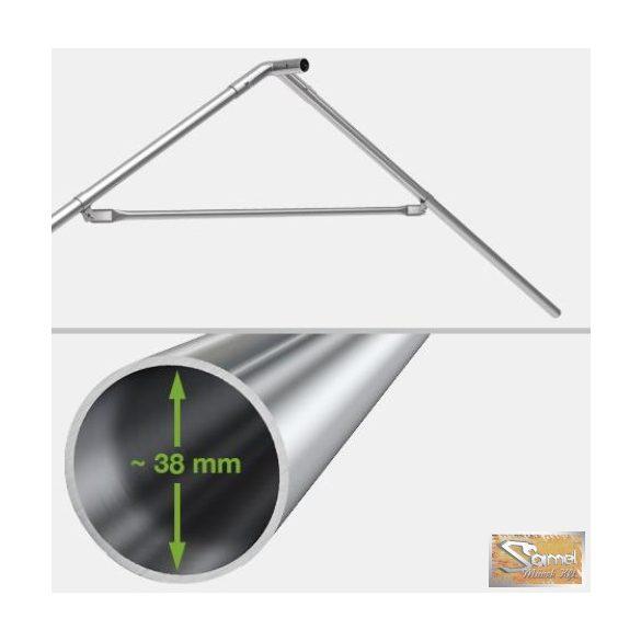 Profi prémium 5x10 m rendezvénysátor PVC 500g/m2, fehér színben