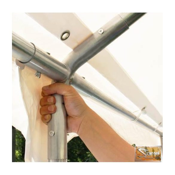 Profi prémium 4x6 m rendezvénysátor PVC 500g/m2, fehér színben