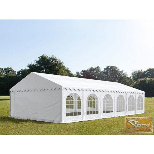 Profi prémium 3x10 m rendezvénysátor PVC 500g/m2, fehér színben