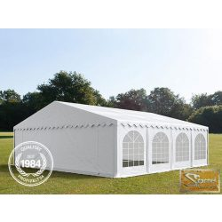 Profi prémium 8x8 m rendezvénysátor PVC 500g/m2, fehér színben