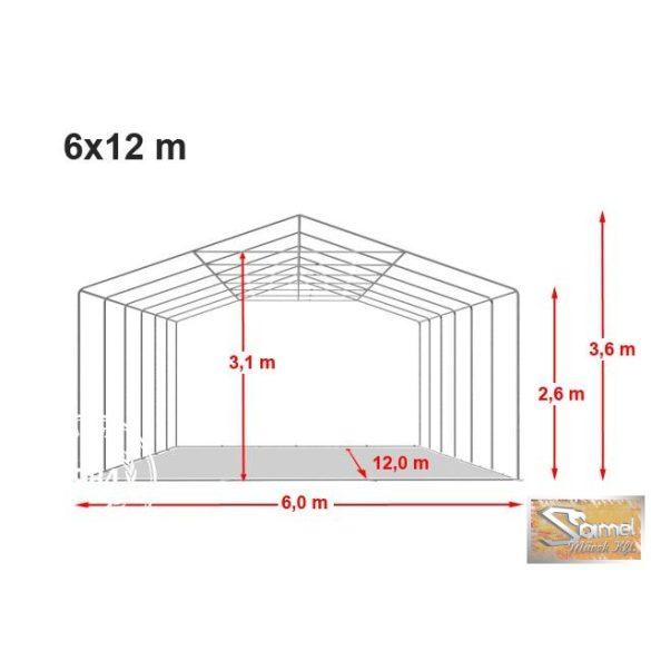 Profi professional rendezvénysátor 6x12 m +2,6m