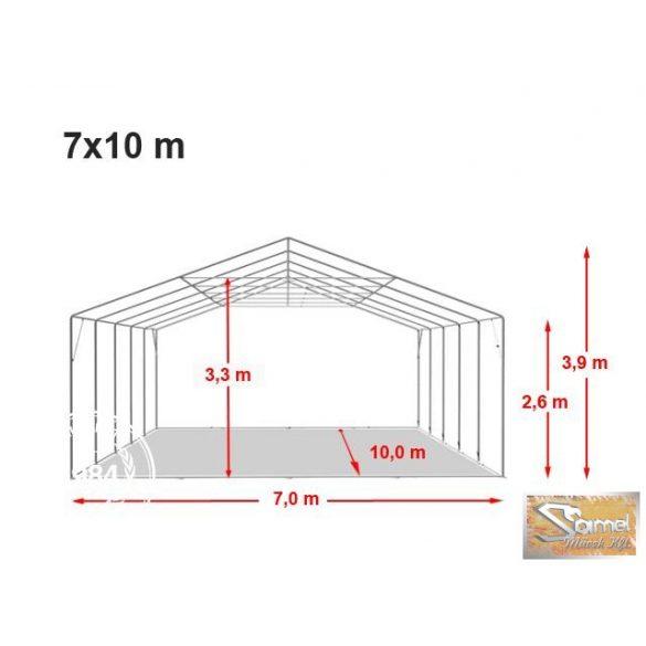 Profi professional rendezvénysátor 7x10 m +2,6m, fehér