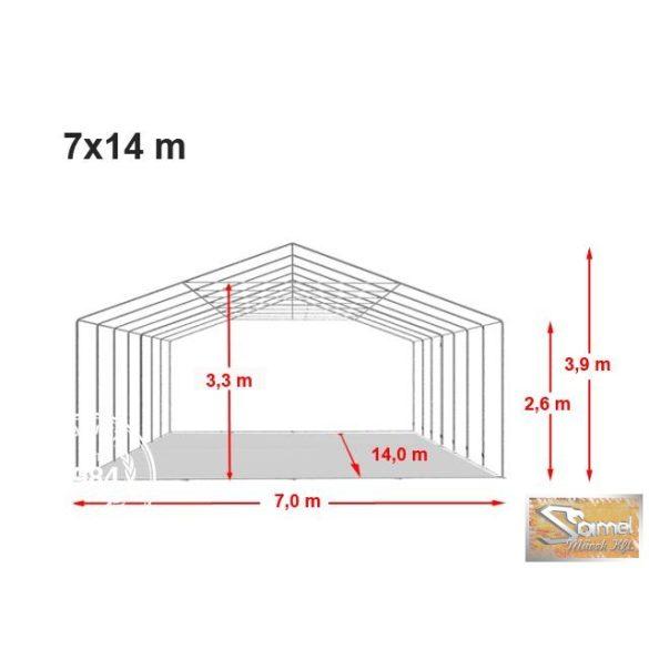 Profi professional rendezvénysátor 7x14 m +2,6m fehér