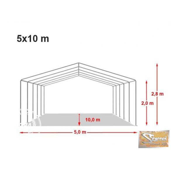 Profi professional 5x10 m, +2 m rendezvénysátor 550g/m2, több színben