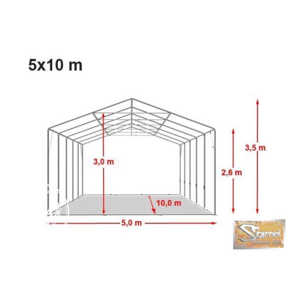 Profi professional rendezvénysátor 5x10 m +2,6 m