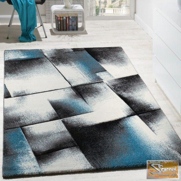 Designer szőnyeg türkiz-szürke-krém-fekete