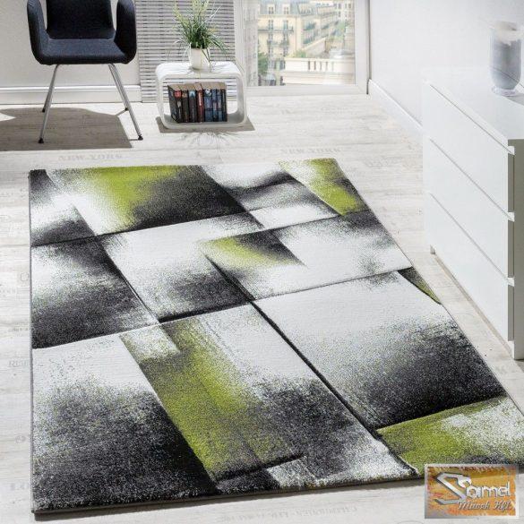 Designer szőnyeg zöld-szürke-krém-fekete