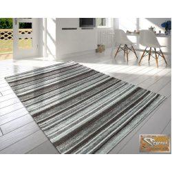 Modern, rövid bolyhos szőnyeg csíkos kivitelben, szürke