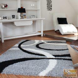 Vonalas szőnyeg, fekete-szürke-fehér