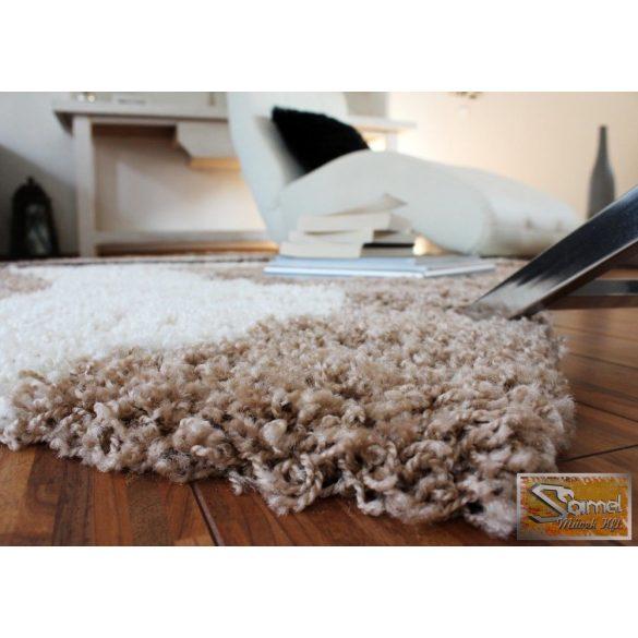 Designer szőnyeg félkörökkel, bézs-barna