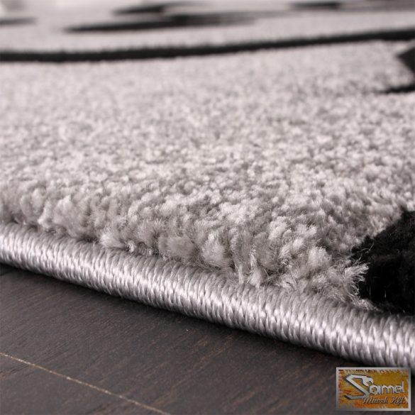 Designer szőnyeg modern kontúrokkal, fekete-szürke