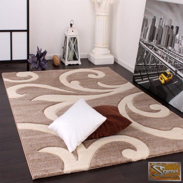 Designer szőnyeg modern kontúrokkal, barna-bézs