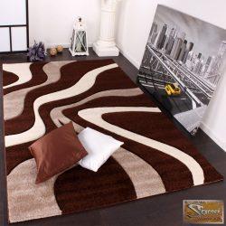 Designer szőnyeg hullámos, barna-bézs-krém