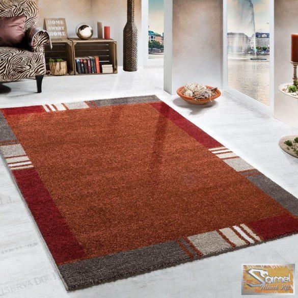 Terracotta szőnyeg, keretmintás, piros-bézs