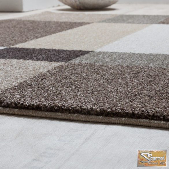 Szőtt szőnyeg, barna-bézs
