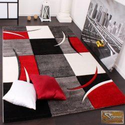 Designer szőnyeg, kontúrokkal, piros-fekete
