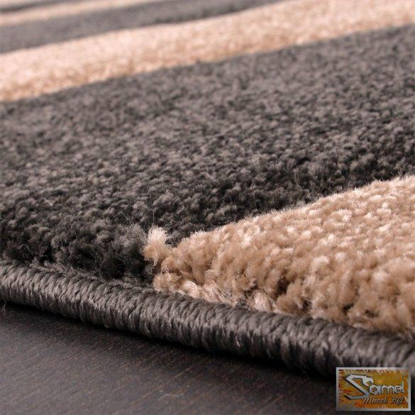 Designer szőnyeg hullámos, antracit-bézs