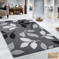 Terracotta szőnyeg, levélmintás, szürke-fekete